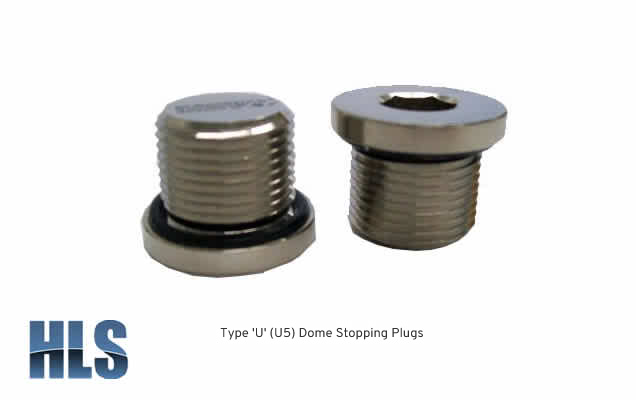 Type U Dome Stopping Plugs